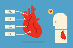 Heart infographics Stock Photos