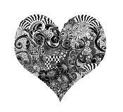 Heart Ink Doodle. Intricate pen and ink drawing of a heart Stock Photos
