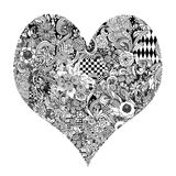 Heart Ink Drawing Royalty Free Stock Photos