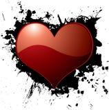 Heart ink splat Stock Photography