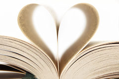Heart inside a book Stock Photography