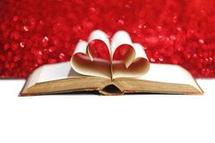 Heart inside a book Stock Photo