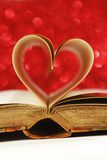 Heart inside a book Royalty Free Stock Image