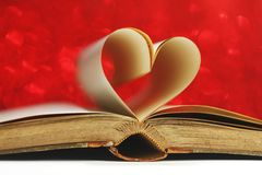 Heart inside a book Royalty Free Stock Photos