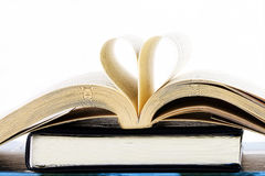 Heart inside a book Royalty Free Stock Photography