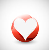 Heart inside a circle illustration design Royalty Free Stock Photography