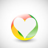 Heart inside a color circle illustration design Royalty Free Stock Image