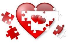 Heart inside my heart. Illustration for valentine's day stock illustration
