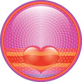 Heart internet button. Hot pink floating red Heart internet button royalty free illustration