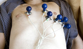Heart investigation. Adult male heart investigation - electrocardiography Stock Images