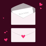 Heart Invitations Stock Photography