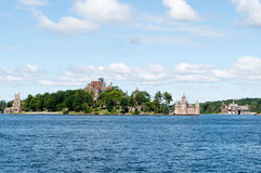 Heart Island, Alexandria Bay, New York. Boldt Castle on Heart Island was a project by George Boldt circa 1900 as a gift for his wife. When Mrs. Boldt died, the Stock Image