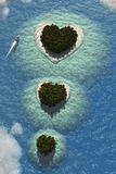Heart Islands Royalty Free Stock Image