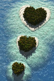 Heart Islands Royalty Free Stock Photos