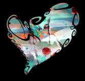 Heart. Isolated heart in rainbow hues Royalty Free Stock Photography