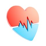 Heart issues and health care emblem icon isolated Royalty Free Stock Photos