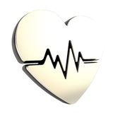 Heart issues and health care emblem icon isolated Royalty Free Stock Photography