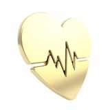 Heart issues and health care emblem icon isolated Stock Photography
