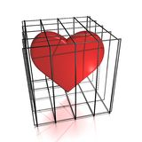 Heart in jail. Ready to use for designers and publishers Stock Image