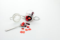 Heart Jar Stock Images