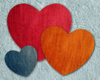 Heart jean pattern Stock Photography