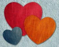 Heart jean pattern. Colorful of heart jean pattern Stock Photography