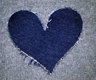 Heart of jeans Stock Photography
