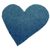 Heart from jeans Stock Photography