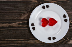 Heart of jelly Royalty Free Stock Images
