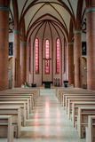 Heart Of Jesus Catholic Church interior in Lubeck, Germany stock images