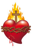 Heart of Jesus. Symbol of Sacred Heart of Jesus royalty free illustration