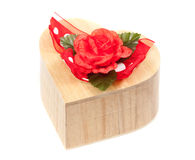 Heart jewelry box Stock Image