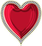 Heart with jewels. The image of heart with the jewels located on edge Stock Illustration