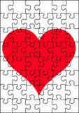 A heart jigsaw. Vector art hires Stock Photo