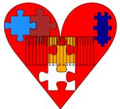 Heart jigsaw stock illustration