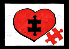 Heart jigsaw puzzle Royalty Free Stock Image