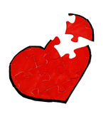 Heart jigsaw puzzle Stock Photo