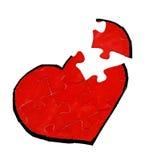 Heart jigsaw puzzle Stock Photo