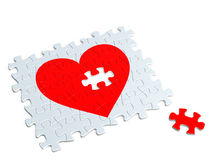 Heart of the jigsaw puzzle Stock Image