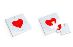 Heart of the jigsaw puzzle Royalty Free Stock Image