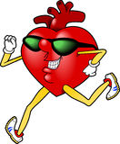 Heart_jogging.jpg Immagini Stock Libere da Diritti
