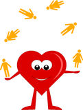 Heart juggler stock images