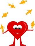 Heart juggler Stock Images