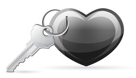 Heart with key Stock Photography