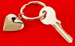 Heart and key Royalty Free Stock Photography