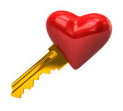 Heart key Royalty Free Stock Photo