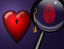 Heart Key ID Royalty Free Stock Photography