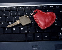 Heart key keyboard key Stock Photography