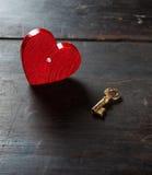 Heart and key Royalty Free Stock Photo