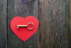 Heart and key Stock Photo